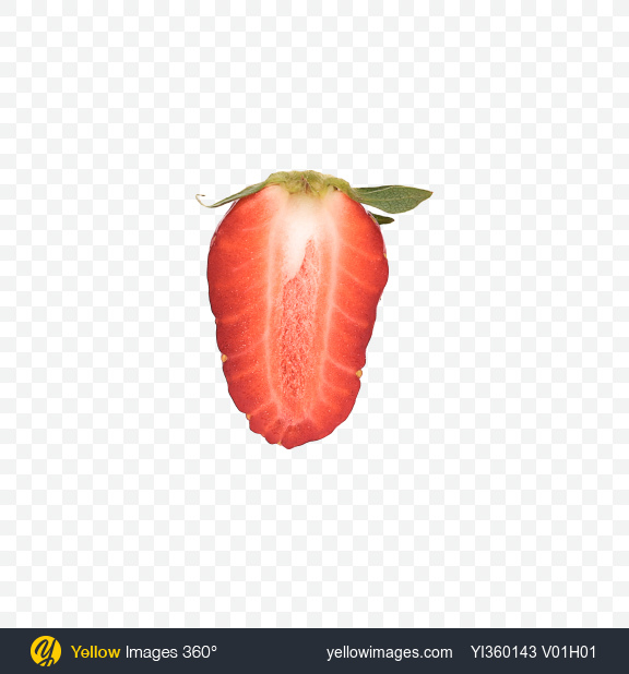 Download Half of Strawberry Transparent PNG on YELLOW Images