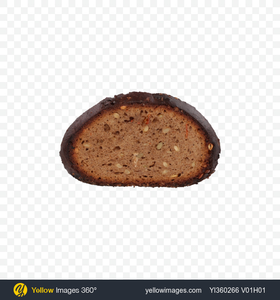 Download Slice of Rye Bread with Seeds and Carrots Transparent PNG on YELLOW Images
