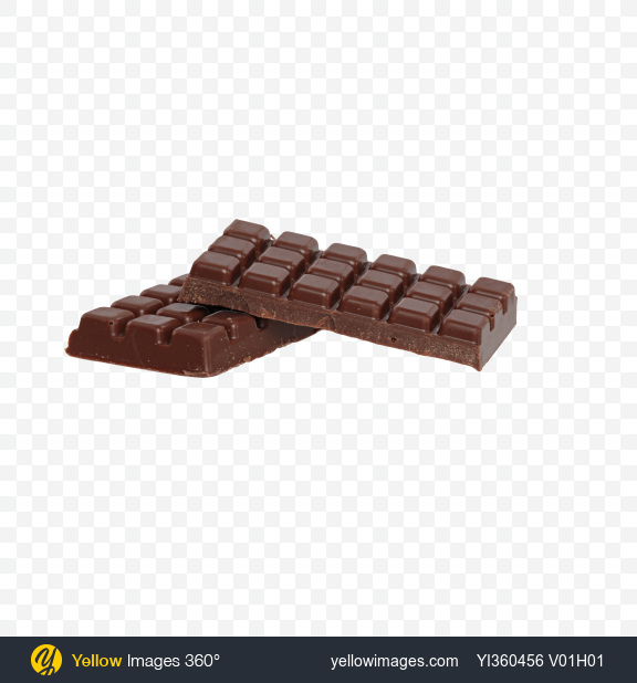 Download Two Milk Chocolate Bar Pieces Transparent PNG on YELLOW Images