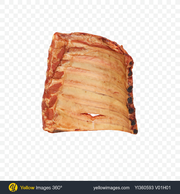 Download Smoked Pork Ribs Transparent PNG on YELLOW Images