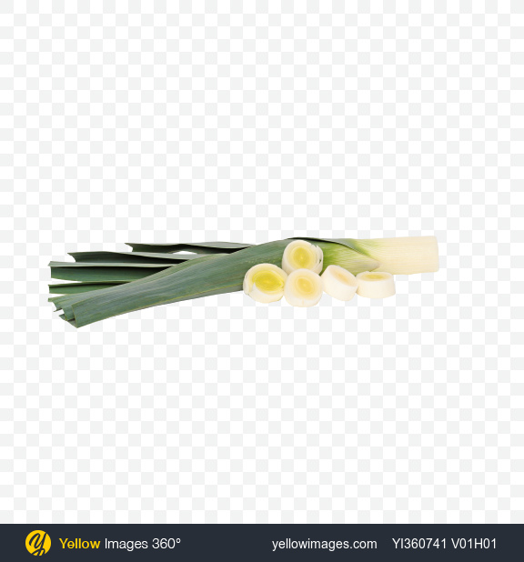 Download Trimmed Leek and Slices Transparent PNG on YELLOW Images
