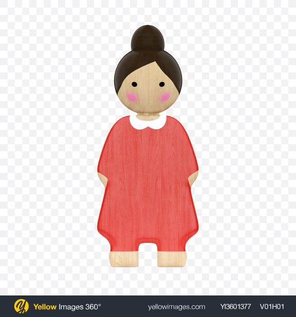 Download Wooden Toy Lady Transparent PNG on YELLOW Images