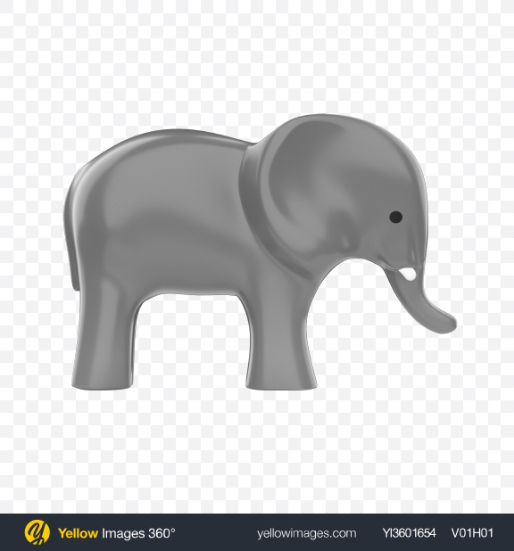 Download Plastic Elephant Toy Transparent PNG on YELLOW Images