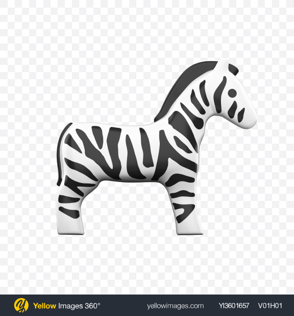 Download Plastic Zebra Toy Transparent PNG on YELLOW Images