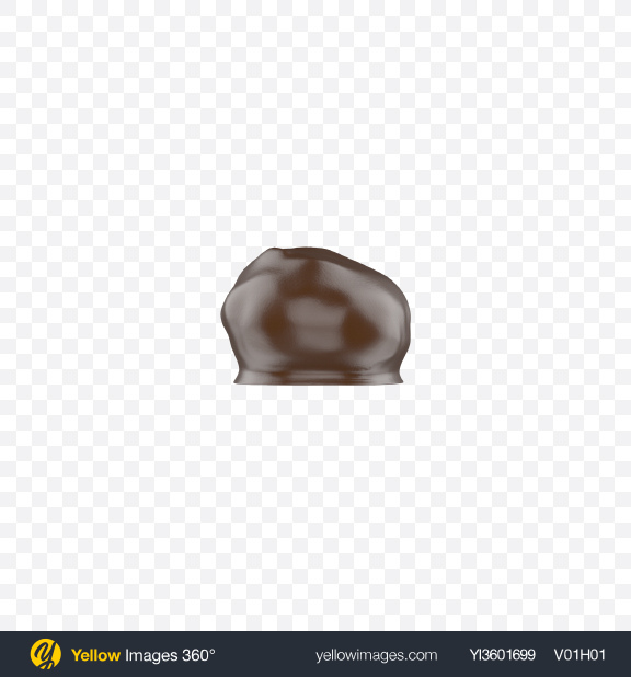 Download Date with Walnut in Milk Chocolate Transparent PNG on YELLOW Images