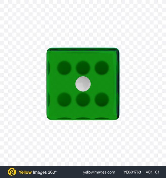 Download Green Game Die with White Dots Transparent PNG on YELLOW Images