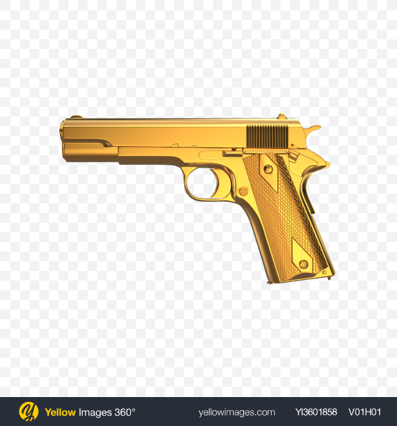 Download Gold Gun Transparent PNG on YELLOW Images