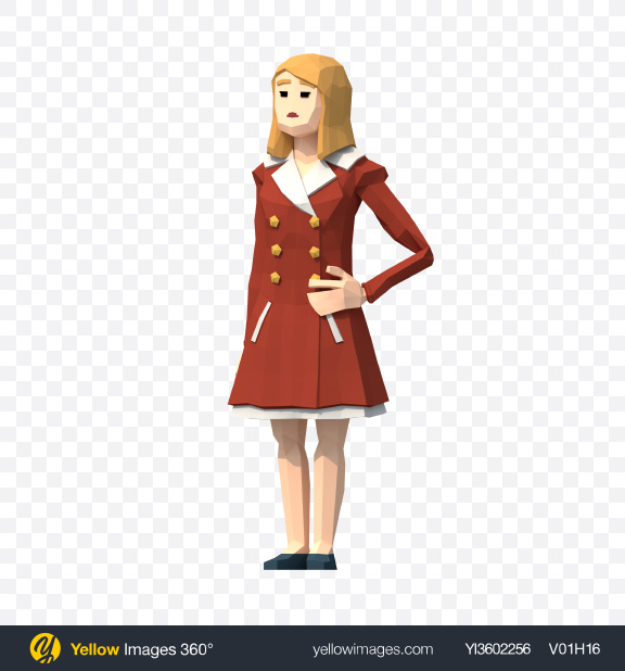 Download Low Poly Lady Transparent PNG on YELLOW Images