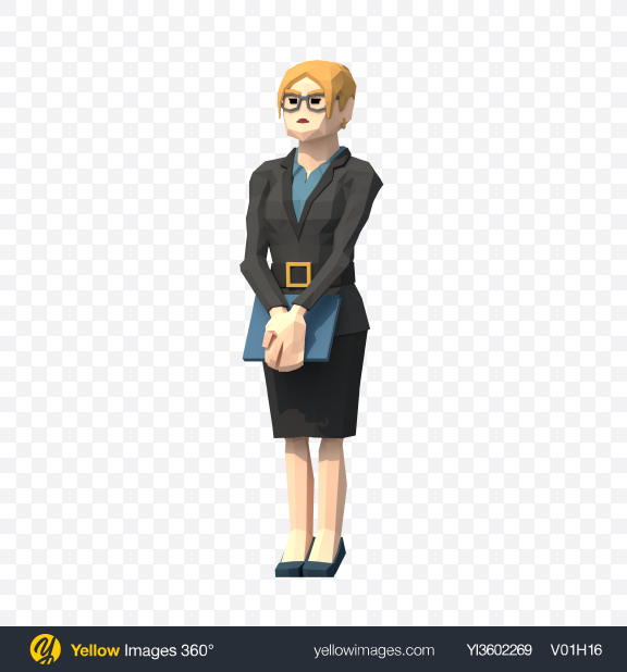 Download Low Poly Business Woman Transparent PNG on YELLOW Images