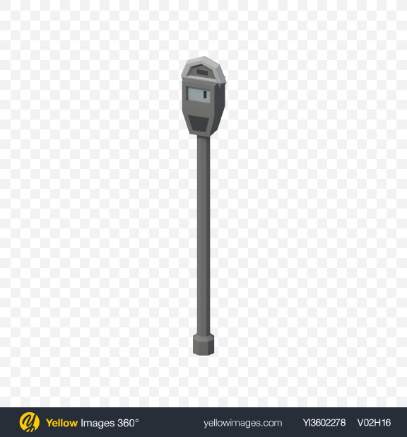 Download Low Poly Parking Meter Transparent PNG on YELLOW Images