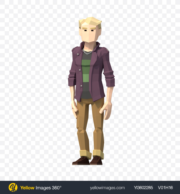 Download Low Poly Guy Transparent PNG on YELLOW Images