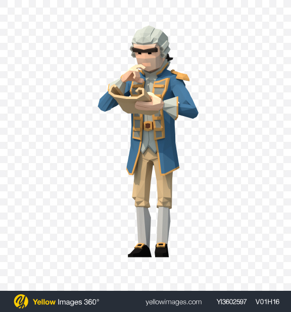 Download Low Poly Governor with Map Transparent PNG on YELLOW Images