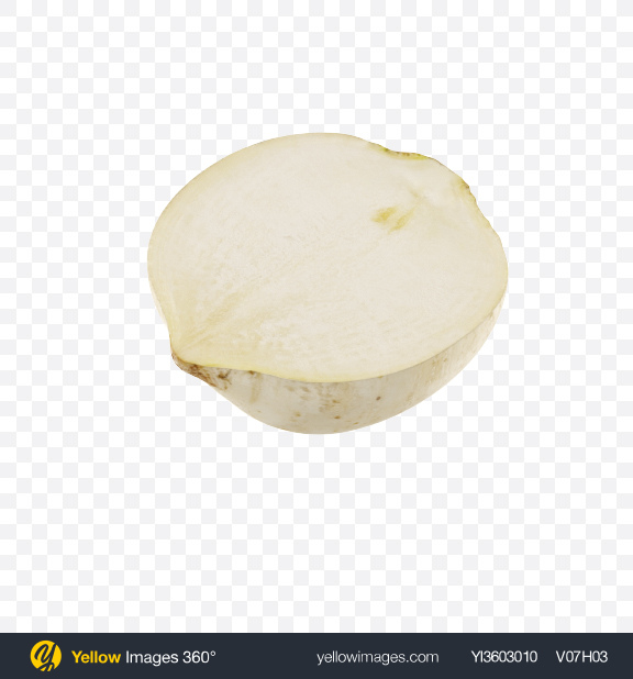 Download Half of White Radish Transparent PNG on YELLOW Images
