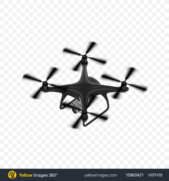 Download Black Drone Transparent PNG on YELLOW Images