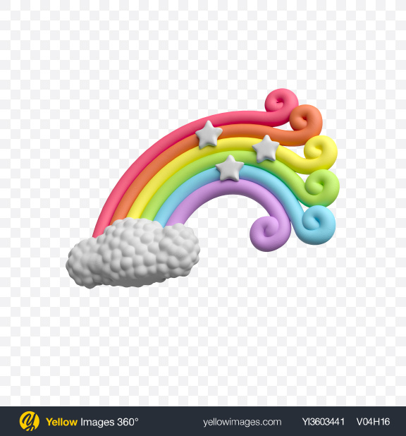 Download Rainbow Cake Topper Transparent PNG on YELLOW Images