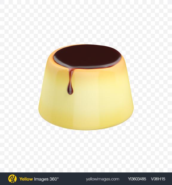 Download Caramel Custard Pudding Transparent PNG on YELLOW Images