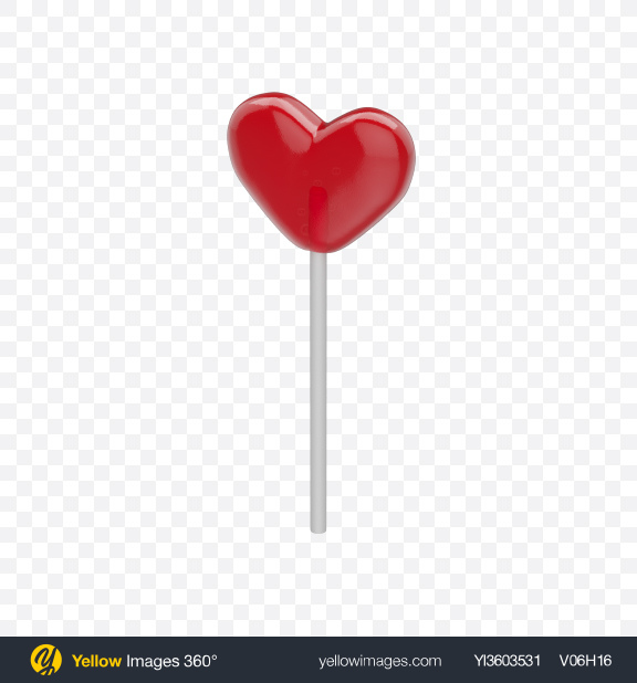 Download Red Heart Lollipop Transparent PNG on YELLOW Images