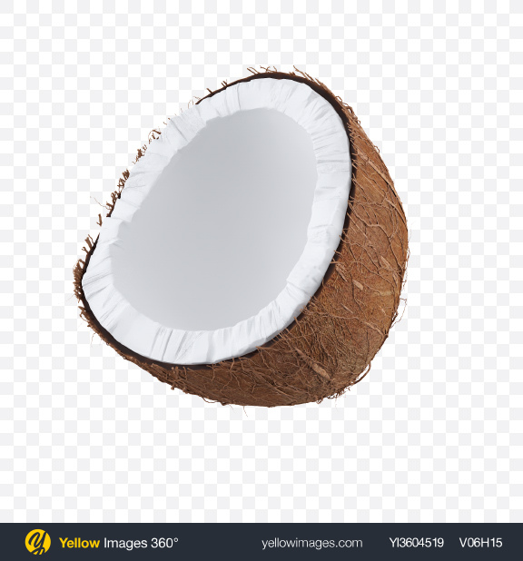 Download Half of Coconut Transparent PNG on YELLOW Images