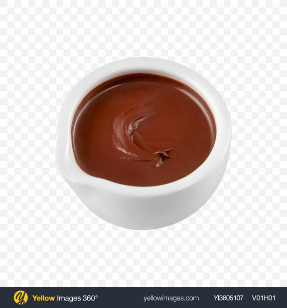 Download Chocolate Paste in White Bowl Transparent PNG on YELLOW Images