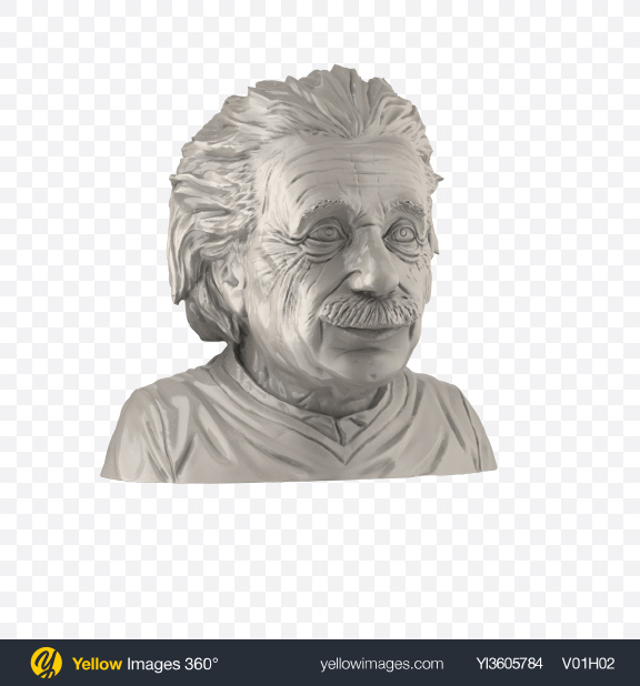 Download Albert Einstein Bust Transparent PNG on YELLOW Images