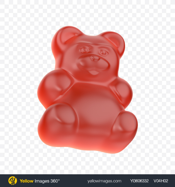 Download Red Gummy Bear Candy Transparent PNG on YELLOW Images