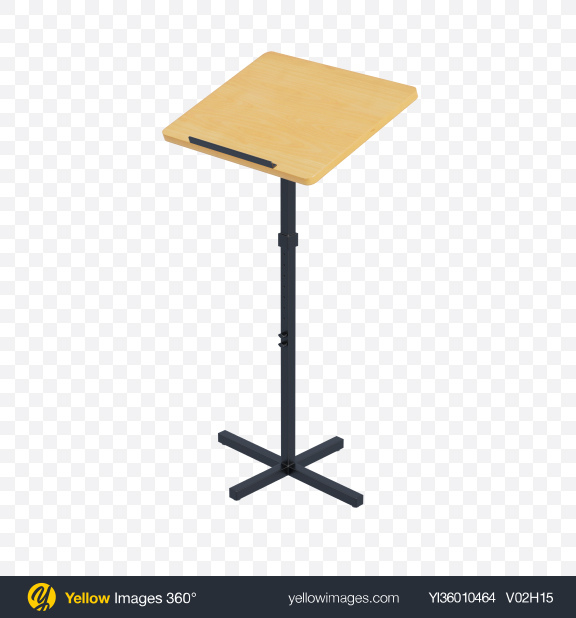 Download Portable Lectern Transparent PNG on YELLOW Images