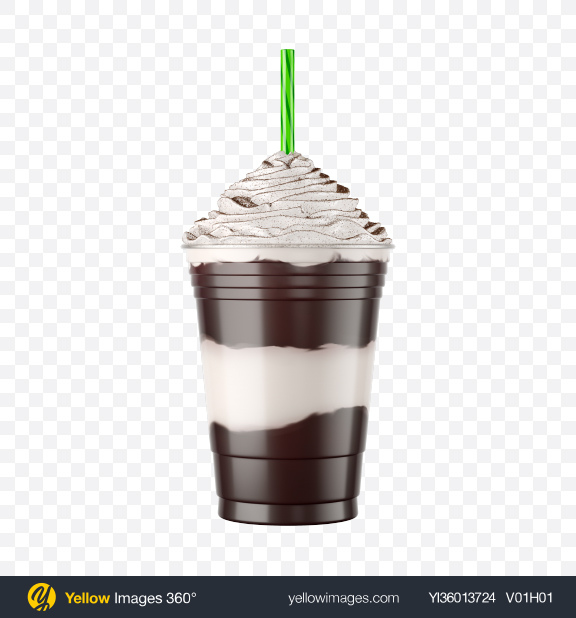 Download Plastic Coffee Cup w/ Whipped Cream & Cocoa Powder Transparent PNG on YELLOW Images