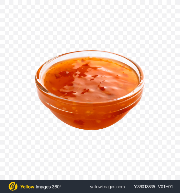 Download Sour Sweet Sauce in Bowl Transparent PNG on YELLOW Images
