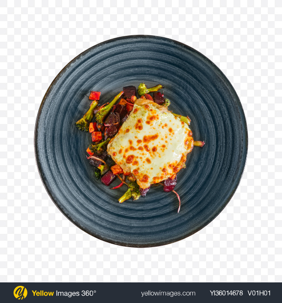 Download Baked Meat w/ Vegetables Transparent PNG on YELLOW Images
