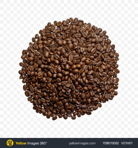 Download Coffee Grains Pile Transparent PNG on YELLOW Images