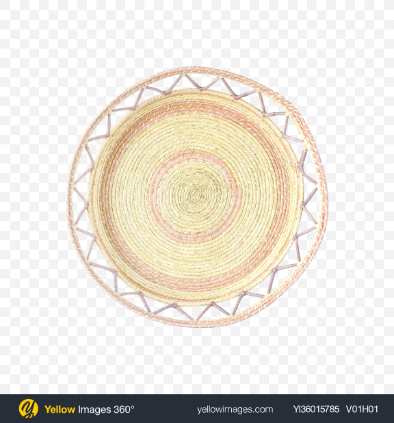 Download Rattan Tray Transparent PNG on YELLOW Images