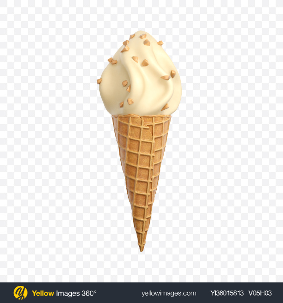 Download Chocolate Glazed Ice Cream Cone Transparent PNG on YELLOW Images