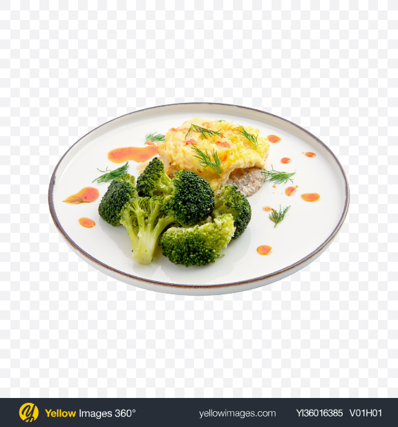 Download Baked Meat w/ Broccoli Transparent PNG on YELLOW Images