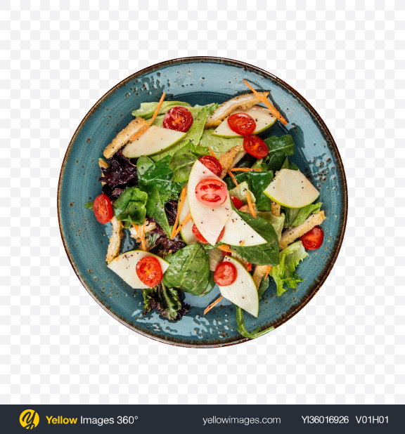 Download Summer Salad with Pears Transparent PNG on YELLOW Images