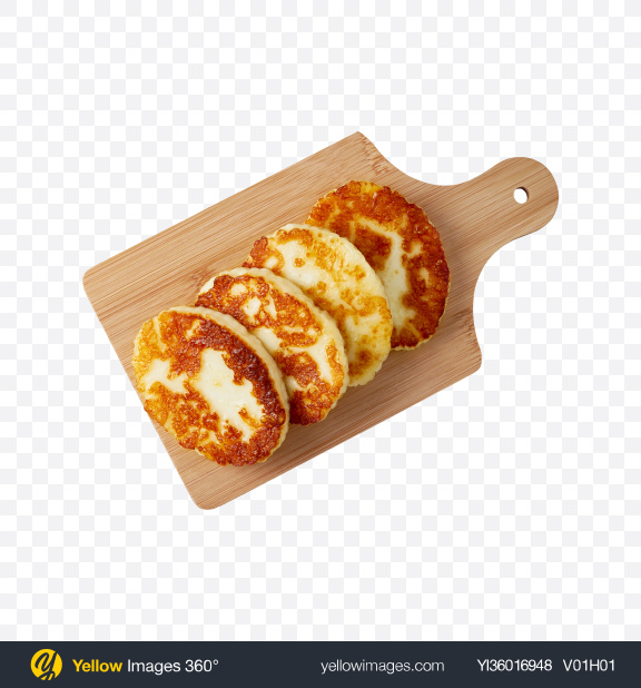 Download Fried Cheese on Wooden Board Transparent PNG on YELLOW Images