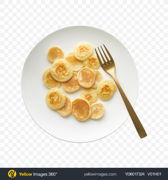 Download Pancakes with Fork Transparent PNG on YELLOW Images