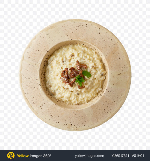 Download Risotto w/ Mushrooms Transparent PNG on YELLOW Images