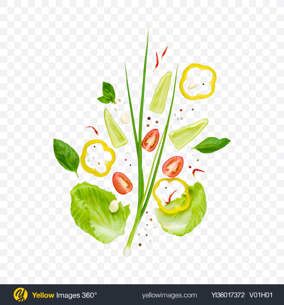 Download Vegetable Salad Ingredients Transparent PNG on YELLOW Images