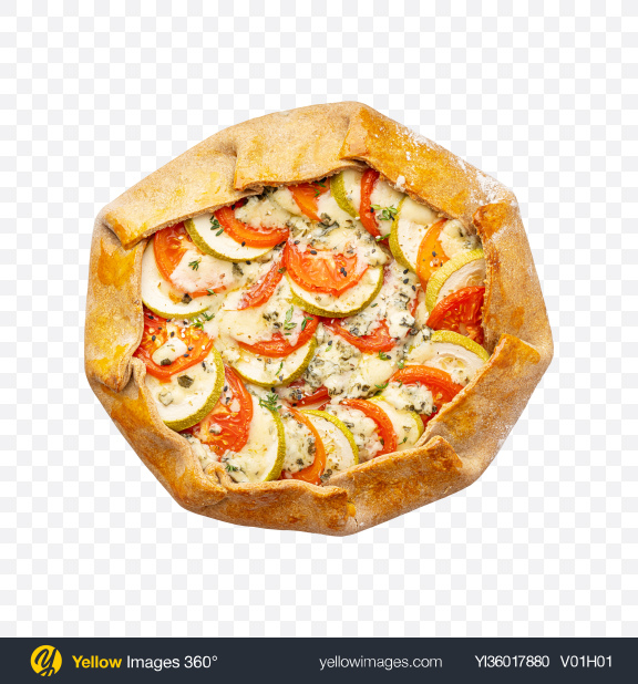 Download Pie w/ Blue Cheese & Vegetables Transparent PNG on YELLOW Images