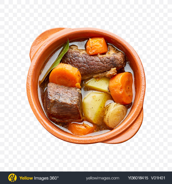 Download Meat Stew in Pot Transparent PNG on YELLOW Images