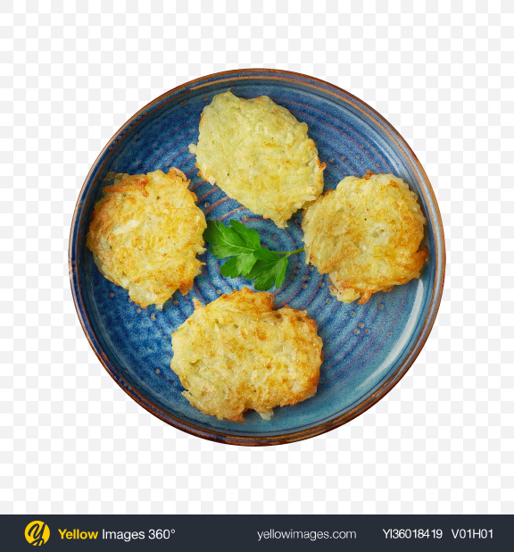 Download Potato Pancakes Transparent PNG on YELLOW Images