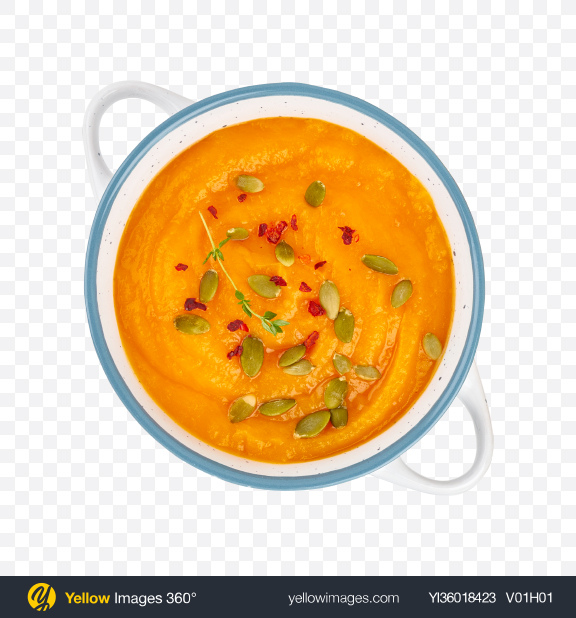 Download Pumpkin Cream Soup Transparent PNG on YELLOW Images