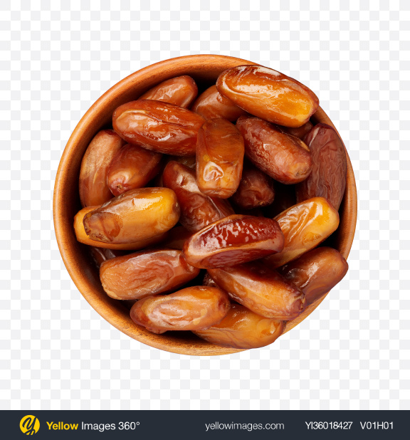 Download Honey Dates in Wooden Bowl Transparent PNG on YELLOW Images