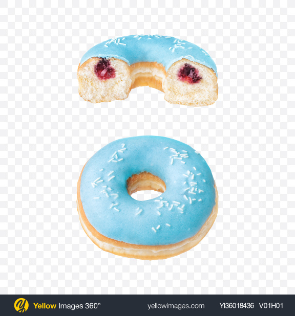 Download Cherry Donut w/ Half Transparent PNG on YELLOW Images