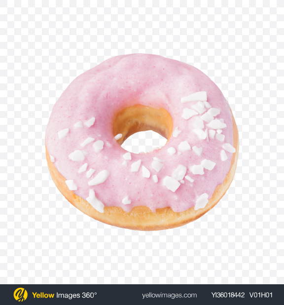 Download Strawberry Donut Transparent PNG on YELLOW Images
