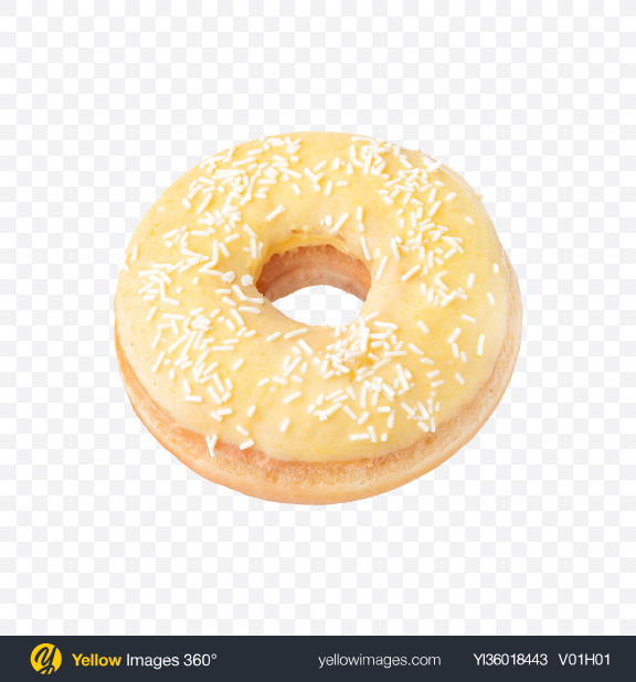 Download Vanilla Donut Transparent PNG on YELLOW Images