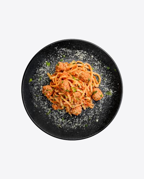 Spaghetti Pasta w/ Meatballs & Cheese
