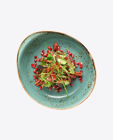 Salad w/ Pecan Nuts & Pomegranate Seeds
