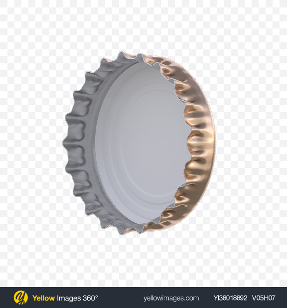 Download Crown Cap With Silicone Seal Transparent PNG on YELLOW Images