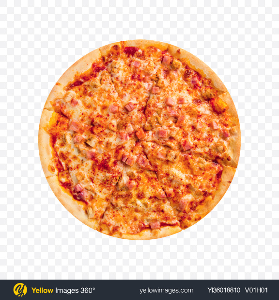 Download Pizza with Ham Transparent PNG on YELLOW Images
